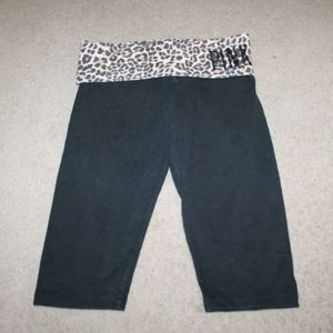 Victoria Secret Pink Yoga Leopard Foldover shorts